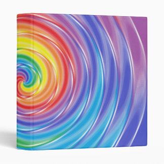 Spinning Rainbow Vinyl Binders