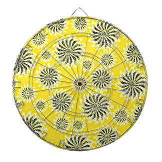 Spinning stars energetic pattern yellow dartboard