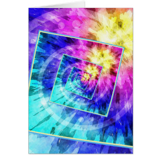 Spinning Tie Dye Abstract Card