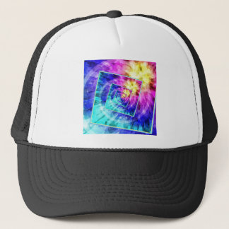 Spinning Tie Dye Abstract Trucker Hat