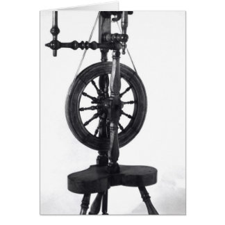 Spinning wheel card