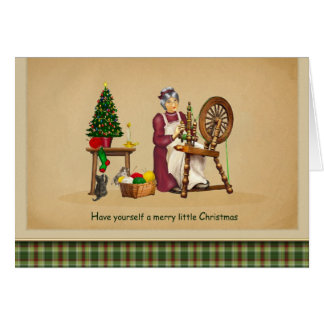 Spinning Wheel Christmas Card