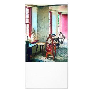 Spinning Wheel Near Window Photo Cards