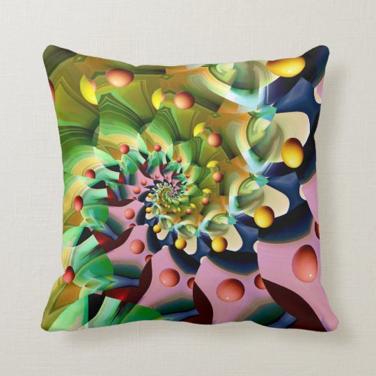 Spinning  Wind Charm Throw Pillow