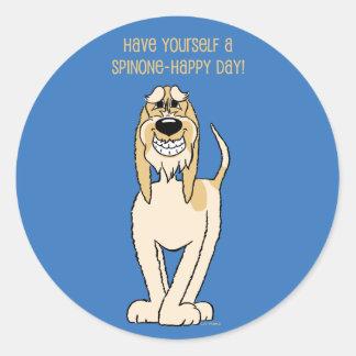 Spinone brightly Smile Classic Round Sticker
