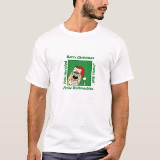 Spinone Italiano brightly Christmas T-Shirt