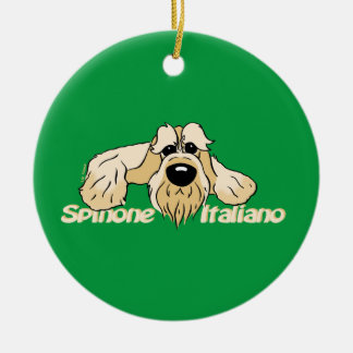 Spinone Italiano brightly head Cute Ceramic Ornament