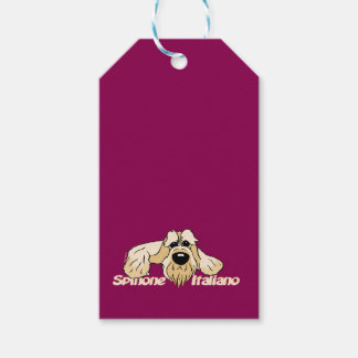 Spinone Italiano brightly head Cute Pack Of Gift Tags