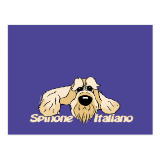 Spinone Italiano brightly head Cute Postcard