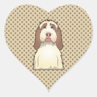 Spinone Italiano Cartoon Heart Sticker
