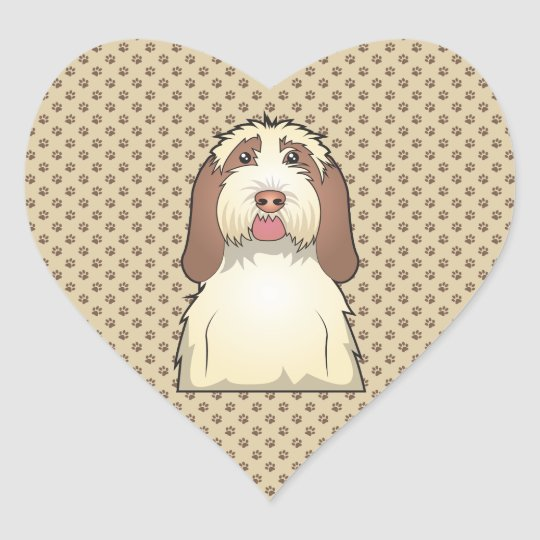 Spinone Italiano Cartoon Heart Sticker