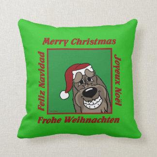 Spinone Italiano darkly Christmas Throw Pillow