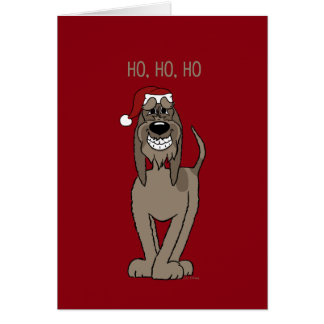 Spinone Italiano darkly Santa Card