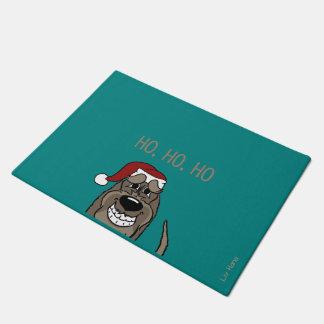 Spinone Italiano darkly Santa Doormat