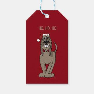 Spinone Italiano darkly Santa Gift Tags