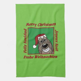 Spinone Italiano dkl Christmas Kitchen Towel