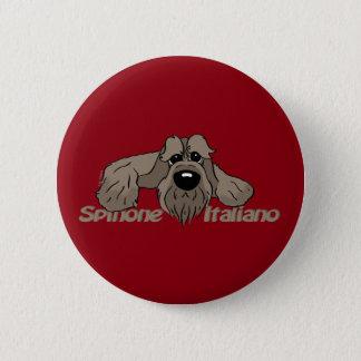 Spinone Italiano dkl. Head Cute 2 Inch Round Button