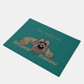 Spinone Italiano dkl head - here lives Doormat