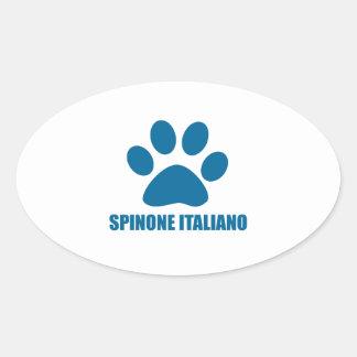 SPINONE ITALIANO DOG DESIGNS OVAL STICKER