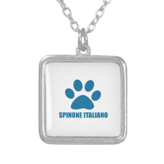 SPINONE ITALIANO DOG DESIGNS SILVER PLATED NECKLACE