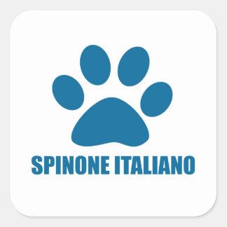 SPINONE ITALIANO DOG DESIGNS SQUARE STICKER