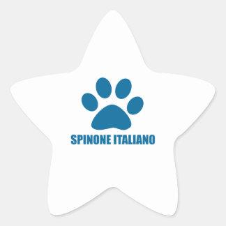 SPINONE ITALIANO DOG DESIGNS STAR STICKER