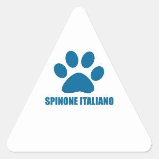 SPINONE ITALIANO DOG DESIGNS TRIANGLE STICKER
