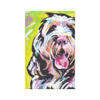 Spinone Italiano Dog Pop Art on Stretched Canvas