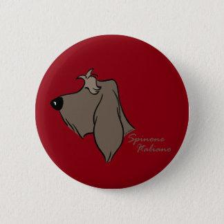 Spinone Italiano head silhouette 2 Inch Round Button
