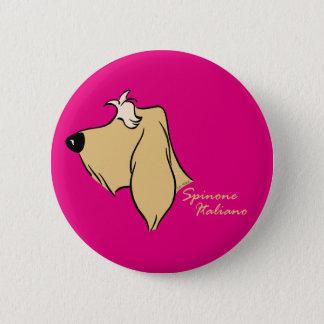 Spinone Italiano head silhouette blond 2 Inch Round Button