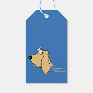 Spinone Italiano head silhouette blond Gift Tags