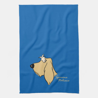 Spinone Italiano head silhouette blond Kitchen Towel