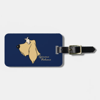 Spinone Italiano head silhouette blond Luggage Tag