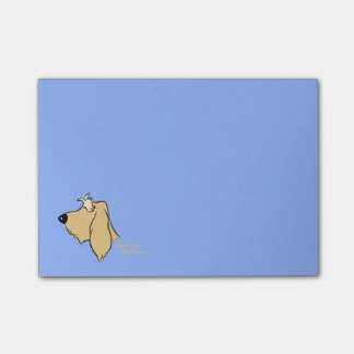 Spinone Italiano head silhouette blond Post-it Notes
