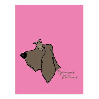 Spinone Italiano head silhouette Postcard