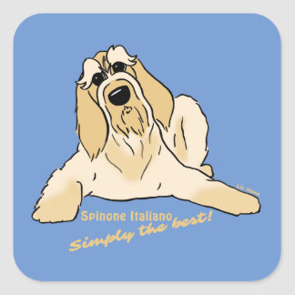 Spinone Italiano light Simply the best! Square Sticker
