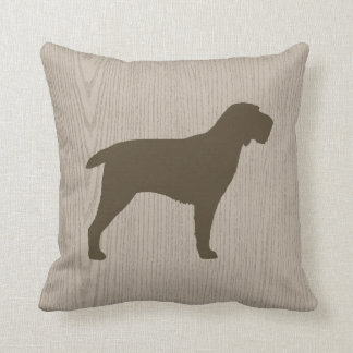 Spinone Italiano Silhouette Throw Pillow