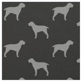 Spinone Italiano Silhouettes Pattern Fabric