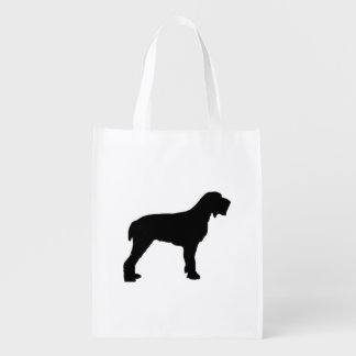 Spinone Italiano silo black.png Reusable Grocery Bag