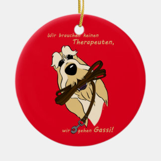 Spinone Italiano - therapist Ceramic Ornament