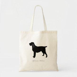 Spinone Italiano Tote Bag (black silhouette)
