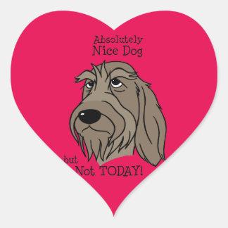 Spinone Nice dog Heart Sticker