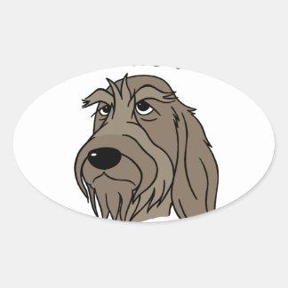 Spinone Nice dog Oval Sticker