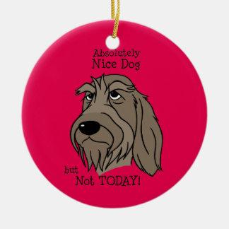 Spinone Nice dog Round Ceramic Ornament