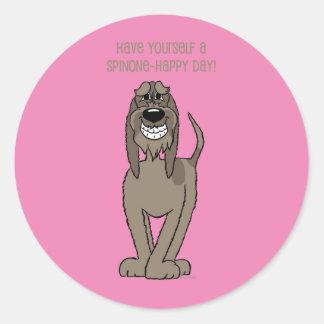 Spinone Smile Classic Round Sticker