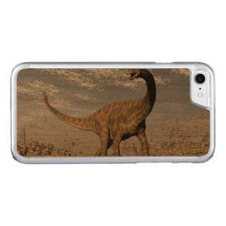 Spinophorosaurus dinosaur walking in the desert carved iPhone 8/7 case