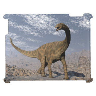 Spinophorosaurus dinosaur walking in the desert cover for the iPad