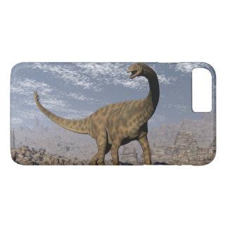 Spinophorosaurus dinosaur walking in the desert iPhone 8 plus/7 plus case