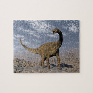 Spinophorosaurus dinosaur walking in the desert jigsaw puzzle