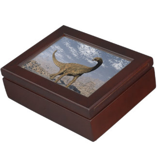 Spinophorosaurus dinosaur walking in the desert keepsake box